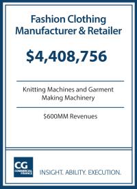 $4.4MM for Fashion Apparel Manufacturer