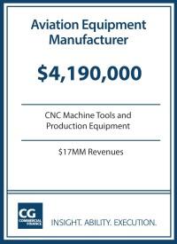 $4.2MM for Aviation Equipment Manufacturer
