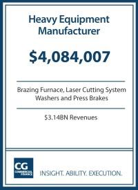 $4.1MM for Heavy Equipment Manufacturer